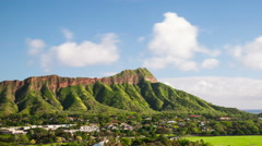 Diamond Head Honolulu Hawaii Time Lapse Stock Footage