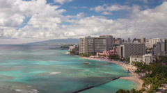 Beach Honolulu Hawaii Time Lapse Stock Footage