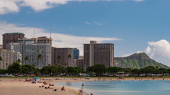 Honolulu Time Lapse Stock Footage
