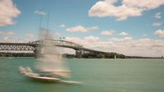 Auckland Harbour Bridge New Zealand Time Lapse Stock Footage