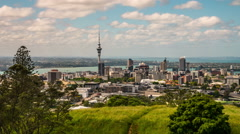 Auckland New Zealand Time Lapse Stock Footage