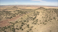 Passing Between Horse Mountain And Mesa Gallina Stock Footage