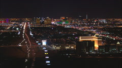 Approaching Las Vegas At Night Stock Footage