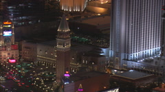 Las Vegas Hotels At Night Stock Footage