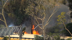 Brush Fire Los Angeles - stock footage