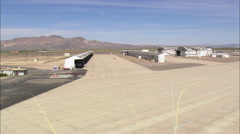 Landing At Barstow Daggett County Airport Stock Footage
