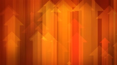 Arrows on Red Background - stock footage