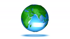 Loopable Recycle Globe Stock Footage