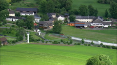 Modlareuth And Old East German Border Stock Footage