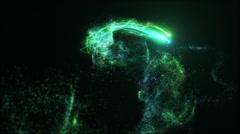 Loopable Neon Fairy Dust Zoom - stock footage