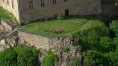 Hirschberg aerial Stock Footage