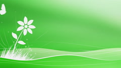 Animated Flowers And Butterflies Background Stock Footage
