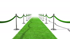 Green Carpet Loopable Stock Footage