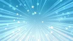 Halftone Stars Background Blue Stock Footage