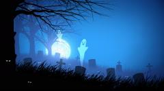Spooky Halloween Background Stock Footage
