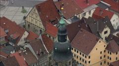 Coburg aerial Stock Footage