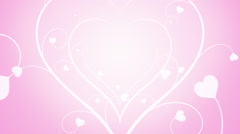 Looping Hearts Grow Background Pink Stock Footage