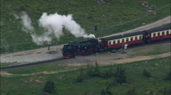 Brocken Tv Tower And Steam Train Stock Footage