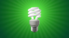 Compact Fluorescent Light Bulb Stock Footage