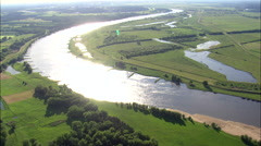 The Elbe River Near Schnackenburg Stock Footage