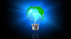 Loopable Earth Light Bulb Background - stock footage