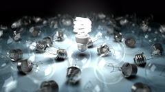 Lonely Lightbulb Stock Footage