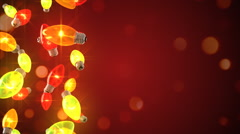 Loopable background of Christmas lights Stock Footage