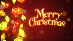 Loopable background of Christmas lights - stock footage