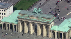 Brandenburg Gate In Sun Stock Footage