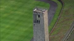 Berlin Olympic Stadium aerial Stock Footage
