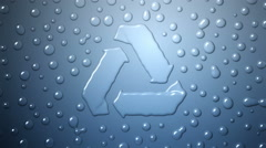 Recycle Water Drops Stock Footage
