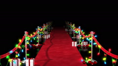 Christmas Red Carpet Stock Footage