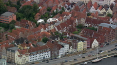 Lubeck aerial Stock Footage