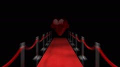 Loopable Red Carpet Heart - stock footage