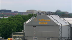Hamburg Airport And Lufthansa Technical Base Stock Footage