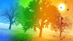 Animated Background Four Seasons - stock footage
