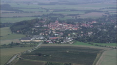 Stolpen aerial Stock Footage