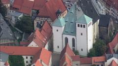 Freiberg aerial Stock Footage