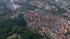 Landshut aerial Stock Footage