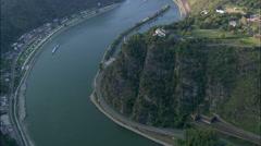 Lorelei aerial Stock Footage