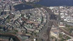 Hamburg aerial Stock Footage