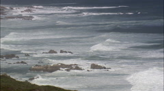 Coastline Between Still Bay West And Gouritsmond Stock Footage