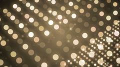 Lights gold bokeh background. Stock Footage