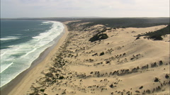 Sand Dunes West Of Dana Bay Stock Footage
