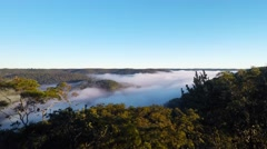 Fog Clearing Over The River on a Winter Morning  - stock footage