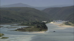 Keurbooms River With Estuary And Coast Stock Footage