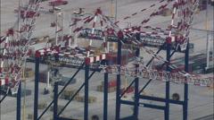 New Harbour At Port Elizabeth Stock Footage