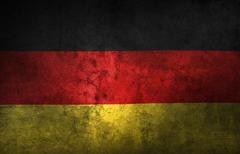 German flag. Grunge texture effect Stock Photos