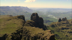 Cathedral Peak Nature Reserve Stock Footage