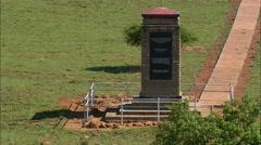 Spioenkop Battlefied Memorials Stock Footage